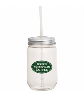 Mason Jar 22-oz. with Silver Tin Lid