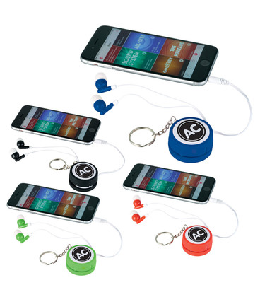 Orbit Ear Bud Wrap Key Tag