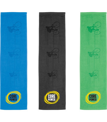 Silhouette In Action Sports Towel