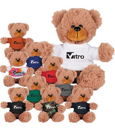 6'' Sitting Plush Bear with Shirt