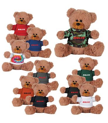 "8"" Sitting Plush Bear with Shirt"