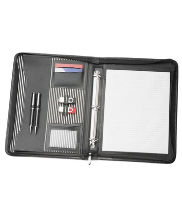 A4 Zippered Compendium with Removable 3 Ring Bind